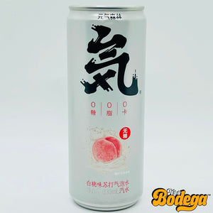 Genki Forest White Peach Sparkling Water (Japan)