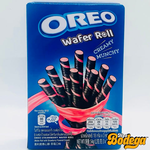 Oreo Strawberry Wafer Roll (Thailand)