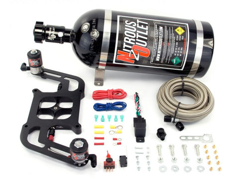 Nitrous Outlet 4150 Stinger Plate System With Offset Solenoid Bracket (50-400HP)