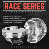 Diamond Race Series LS Pistons - 2,000HP Rated, LS7, Flat Top