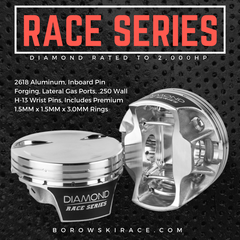 Diamond Race Series LS Pistons - 2,000HP Rated, LS3, Dish