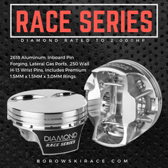 Diamond Race Series LS Pistons - 2,000HP Rated, LS3, Flat Top