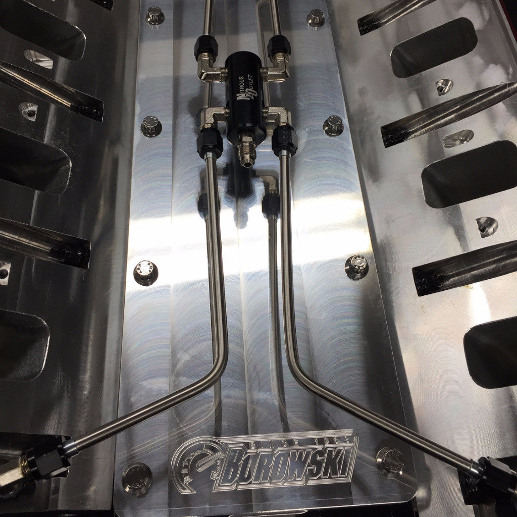 Nitrous Outlet LS Coolant Crossover for Carb Style Intakes