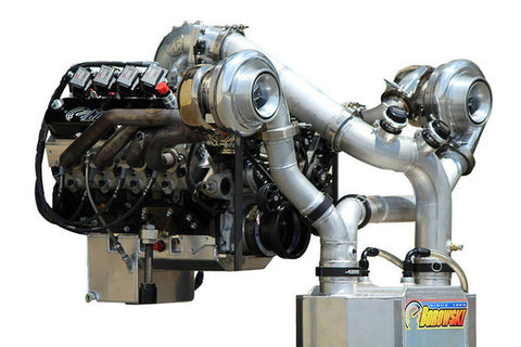 Twin-Turbo, Hydraulic-Roller LS Engine - Complete with Custom Serpentine, Holley Dominator