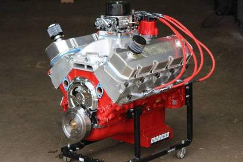 740 HP, Carbuerated, 540 ci Dart Big M BBC Engine, Pump Gas, CUSTOM Comp Hydraulic Roller Cam, MSD Pro-Billet Distributor. Complete As Shown