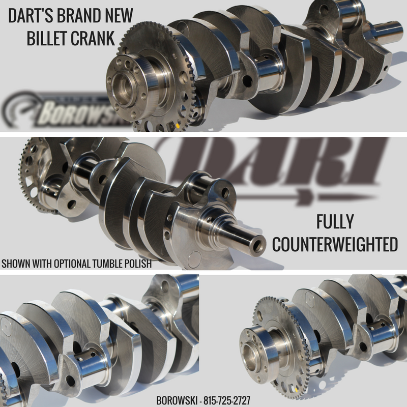 Dart Billet LS Crankshaft - Fully Counterweighted Billet