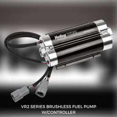 Holley VR2 Dual Brushless Fuel Pump - Two Independent Pumps in One