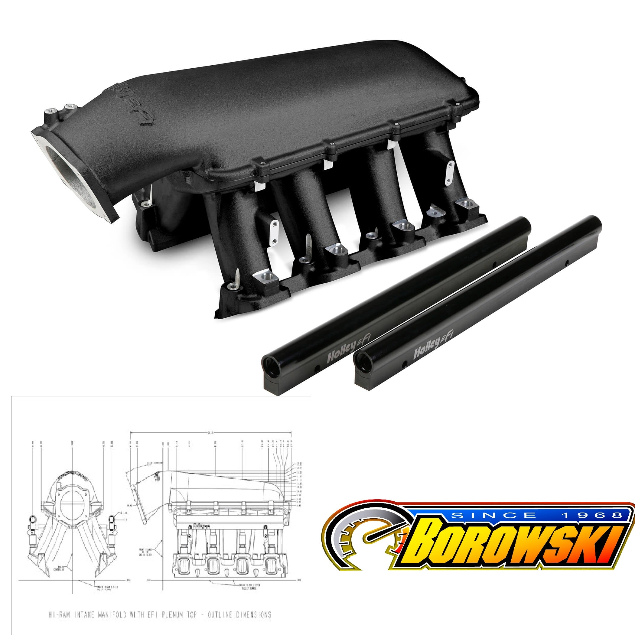 HOLLEY LS HI-RAM EFI MANIFOLD | Borowski Race Engines