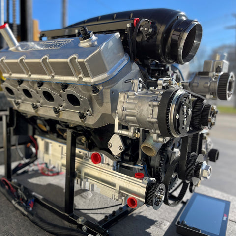 3,000 hp rated, R/T Twin Turbo Big Block Chevy Engine, Complete