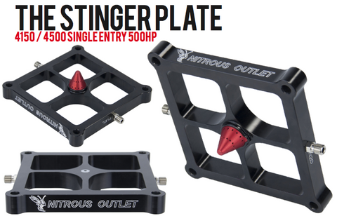 Nitrous Outlet 4150 Race Stinger Plate System (50-500HP)
