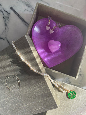 MY HEART { purple alabaster }
