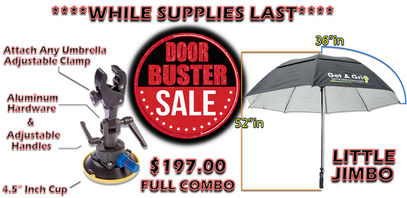 "The Grip 4.5 inch cup with 72"" Little Jimbo Umbrella COMBO           ****DOOR BUSTER**** WHILE SUPPLIES LAST!!"