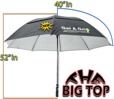 "Umbrella Only ""The Big Top"" 80 inch"