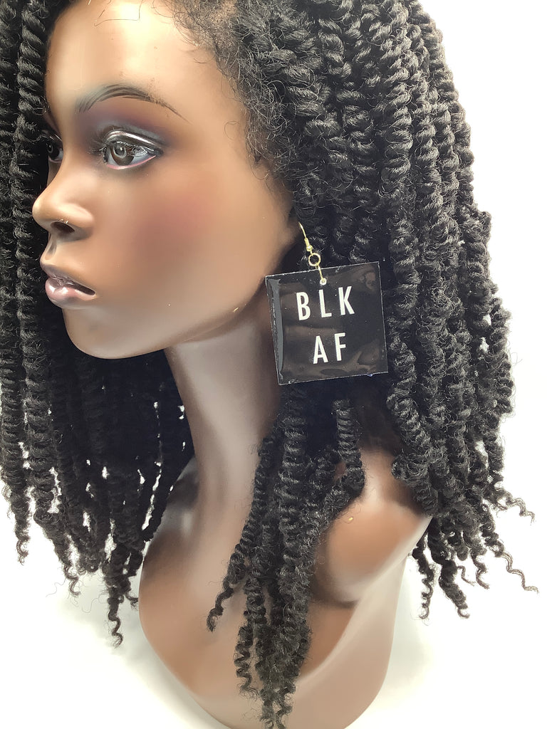 Image Earrings ( BLK AF)