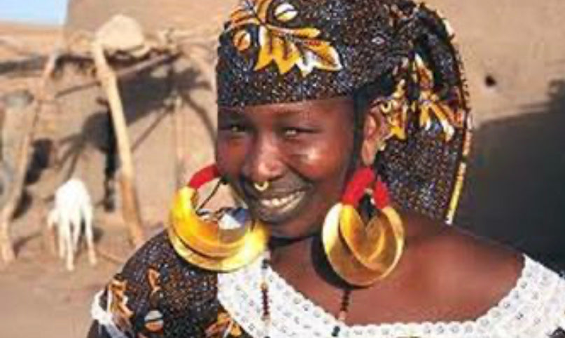 Fulani Jumbo Red Thread Earrings