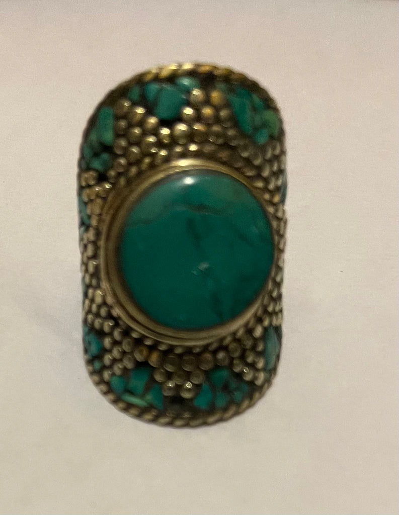 Tibetan Fashion Ring Turquoise star