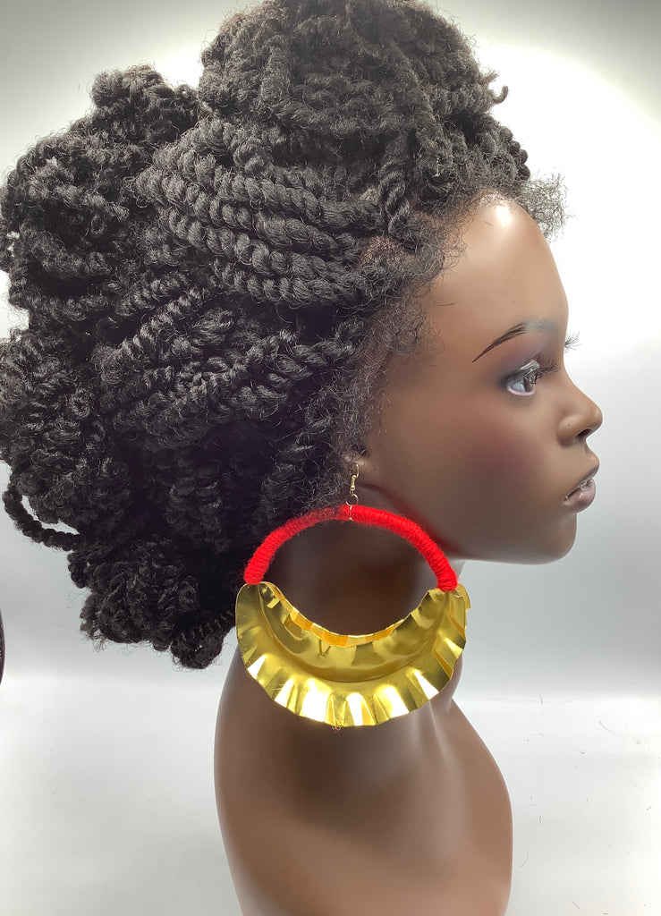 Fulani Mother Load Red thread Earrings