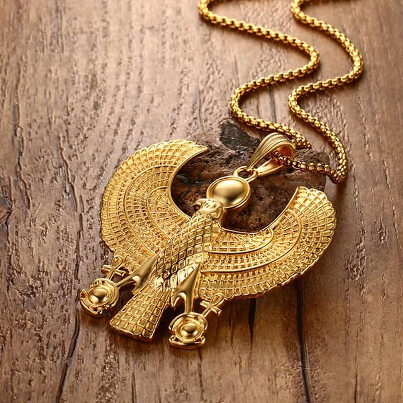 falcon horus necklace