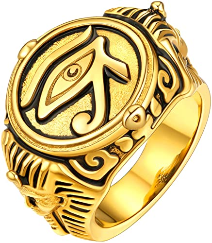 Eye of Horus Ring ( Gold Tone)