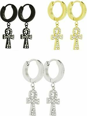 ss hinged ankh earrings