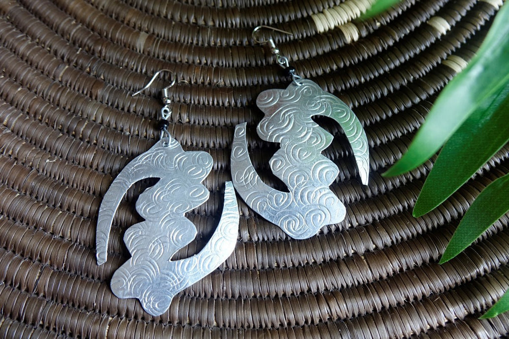 Aluminum Adinkra Earrings