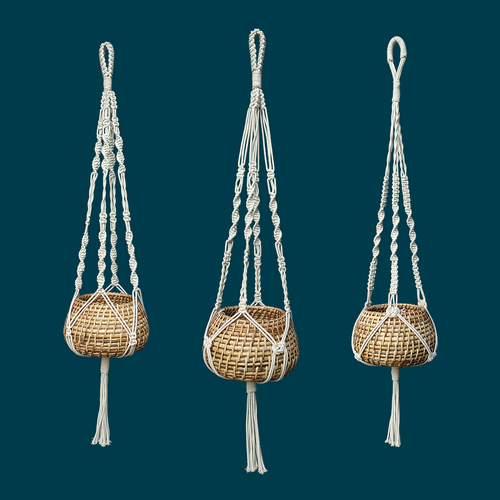 Macrame Plant Hanger - Set of 3