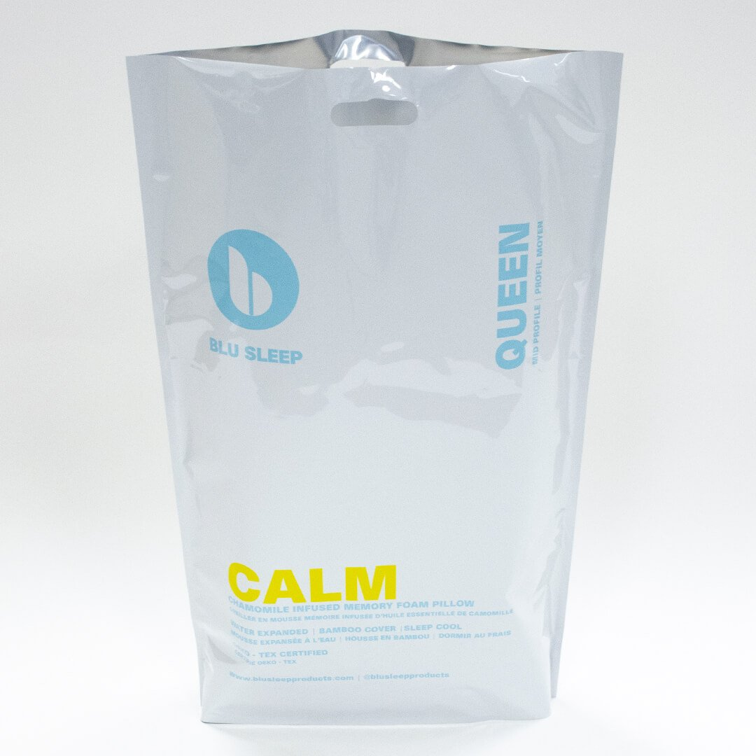 Blu Sleep Calm Memory Foam Pillow - Infused with Chamomile Oil at Real Deal Sleep
