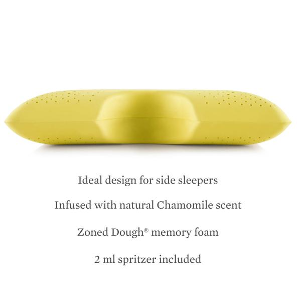 Malouf Shoulder Zoned Dough® Chamomile Pillow at Real Deal Sleep