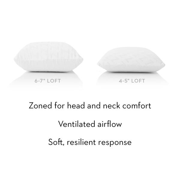 Malouf Zoned Talalay Latex Pillow at Real Deal Sleep