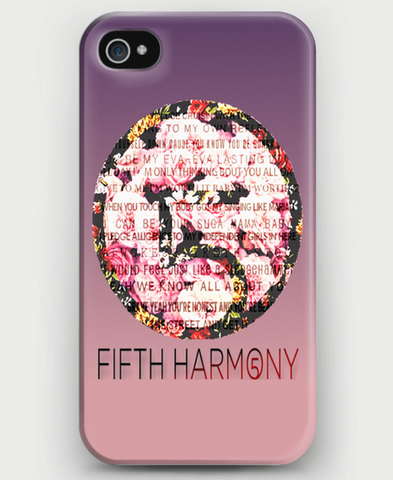 Fifth Harmony Floral iPhone Case