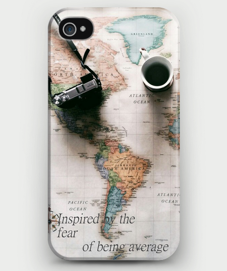 "World Map ""Inspired by the fear of being average"" iPhone Case - CrewWear"