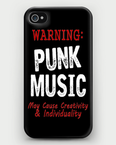 Warning: Punk Music May Cause Creativity & Individuality iPhone Case - CrewWear