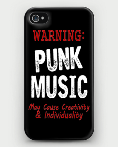 Warning: Punk Music May Cause Creativity & Individuality iPhone Case