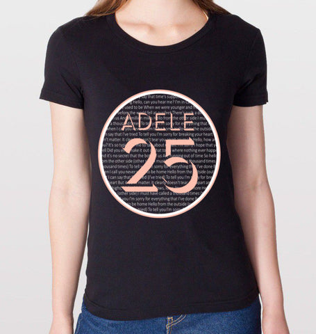 Adele 25 Black T-Shirt (Women)