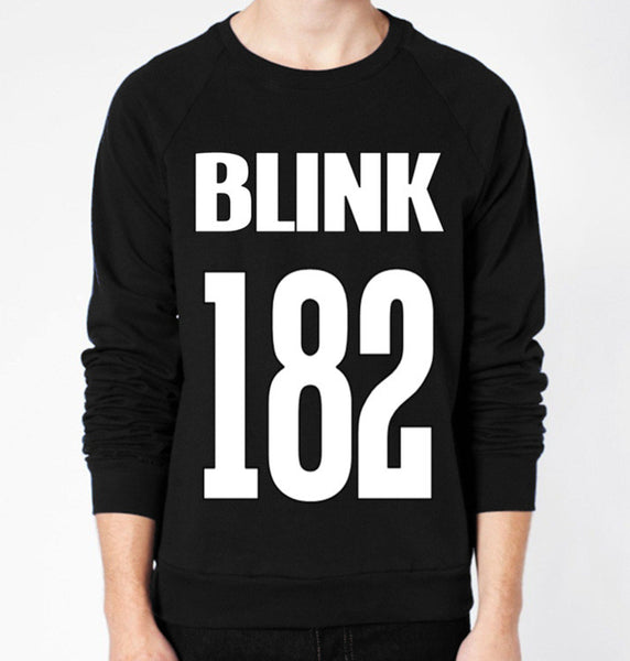Blink-182 Jersey Crewneck Fleece Sweater (Unisex) - CrewWear