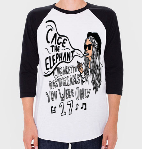 Cage The Elephant Baseball Tee (Unisex)