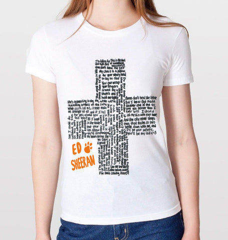 Ed Sheeran Lyrics T-Shirt (Women)