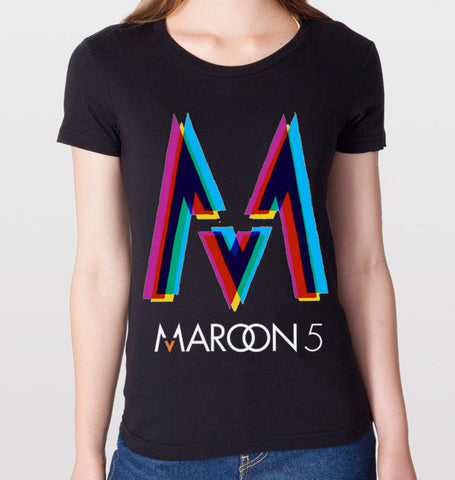 Maroon 5 Black T-Shirt (Women)