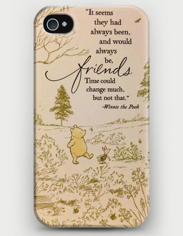 Winnie the Pooh Friendship Quote iPhone Case