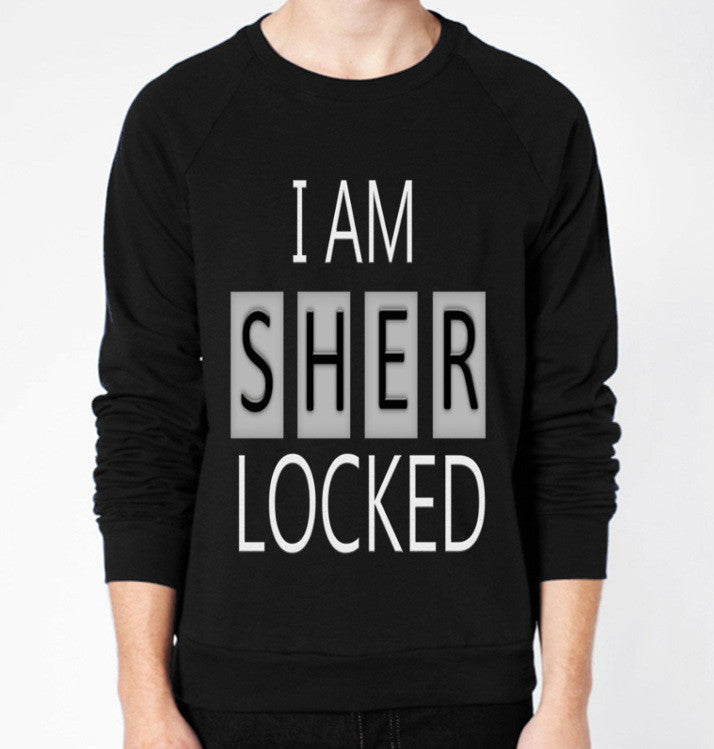 I Am Sherlocked Crewneck Fleece Sweater (Unisex) - CrewWear