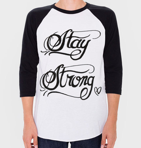 Demi Lovato Stay Strong Baseball Tee (Unisex)
