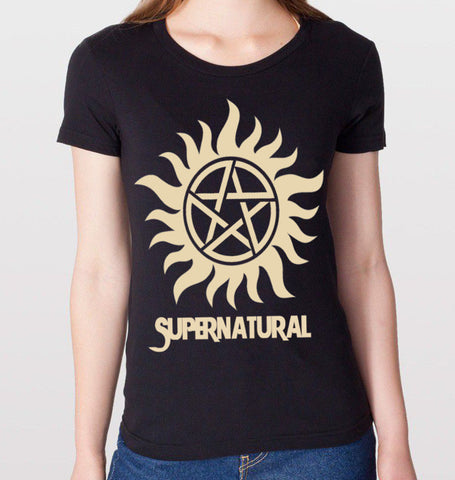 Supernatural Black T-Shirt (Women)