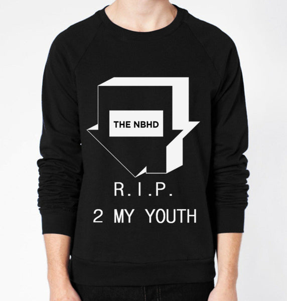 The NBHD RIP 2 MY YOUTH Crewneck Fleece Sweater (Unisex) - CrewWear