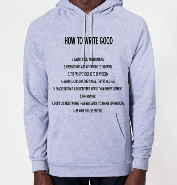 How To Write Good Hoodie Sweatshirt (Unisex) - CrewWear