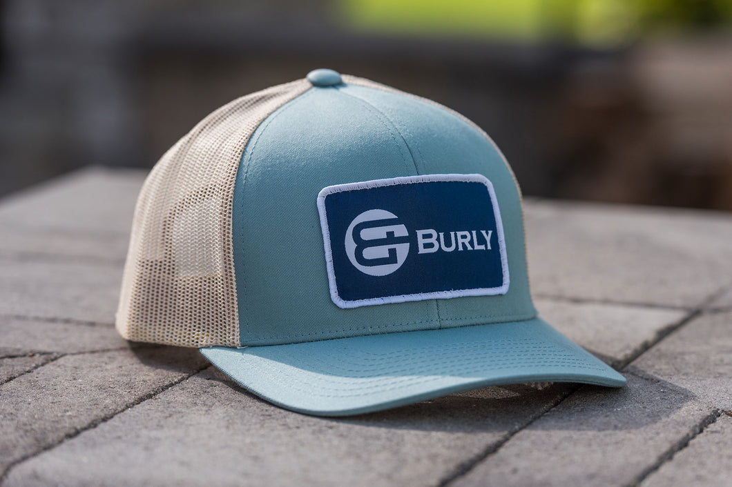 Light Blue - Tan Trucker Hat