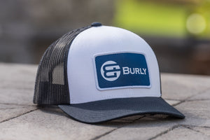 White - Dark Navy Trucker Hat