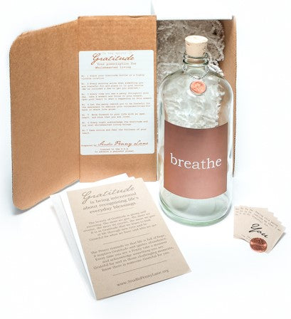 Breathe Apothecary Jar Clear with Copper Block