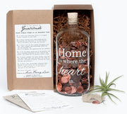 Home is where the heart is. Clear Apothecary jar