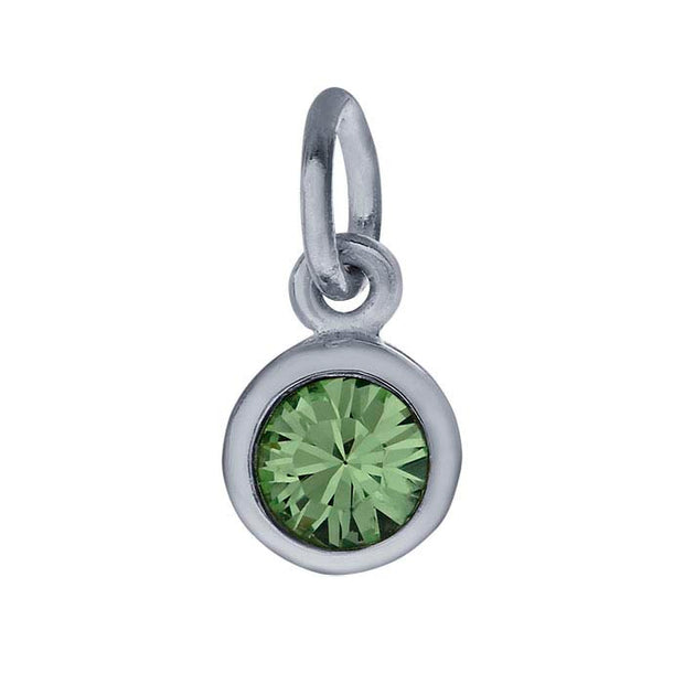 Sterling Petite Penny with Sterling Silver Birthstone Charm with Swarovski® Crystal- August