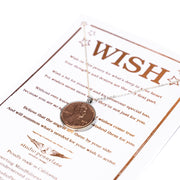 Wish  Penny Necklace Silver Plate Chain